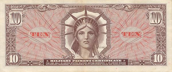 10 Dollar MPC - Back